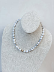 Howlite Stone Bead Necklace