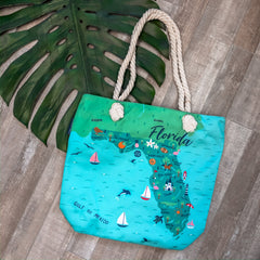'Florida' Canvas Tote by Simply Southern