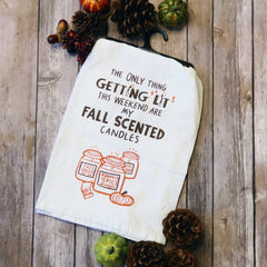 'Fall Candles' Kitchen Towel by PBK