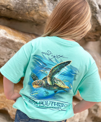 Youth 'Raised Right' Sea Turtle Short Sleeve by Simply Southern