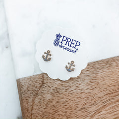 Anchor Signature Enamel Studs - Gray