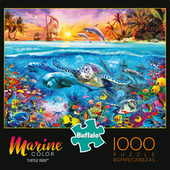 Turtle Reef 1000 Piece Jigsaw Puzzle