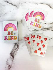 'Be Kind' Water Resistant Playing Cards by Simply Southern