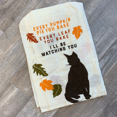 'Watching You Cat' Kitchen Towel by PBK