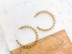 Emerson Studded Hoop Earring - Gold