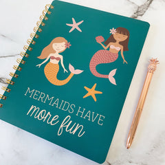'Mermaids Have More Fun' Spiral Notebook by PBK