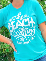 'The Beach is Calling' Signature Graphic Tee