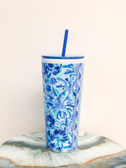 Acrylic Tumbler with Straw by Lilly Pulitzer - High Manetenance