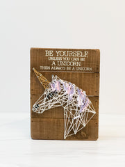 Be A Unicorn' Box Sign by PBK