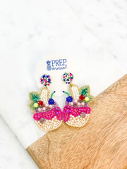 Luca Tropical Drink Beaded Statement Dangles