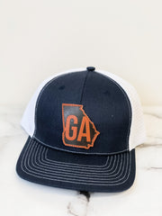 'Georgia' Distressed Patch Trucker Hat by Simply Southern
