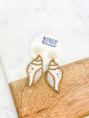 Kelly Conch Beaded Dangles - Ivory