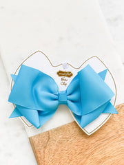 Turquoise Bow Clip by Mud Pie