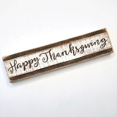 'Happy Thanksgiving' Box Sign