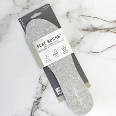Women's Flat Socks - Light Gray