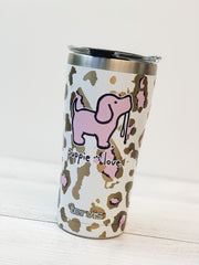 Puppie Love 'Pink Leopard Puppie' Stainless Steel 20 oz Tumbler by Tervis (Ships in 2-3 Weeks)