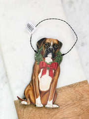 'Christmas Boxer' Dog Ornament by PBK