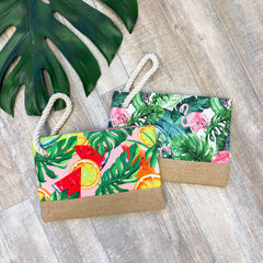 Shelby Tropical Print Rope Wristlet - Choice of Style