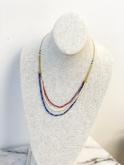Petite Americana Layered Sparkler Necklace