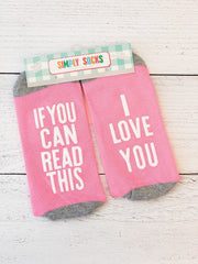 'I Love You' Non-Slip Socks by Simply Southern