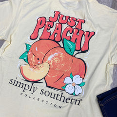 Youth 'Just Peachy' Short Sleeve Tee by Simply Southern