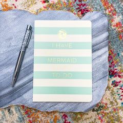Important Mermaid Stuff Ruled Notebook by Spartina