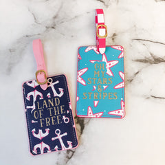 Patriotic Luggage Tag Set by Simply Southern