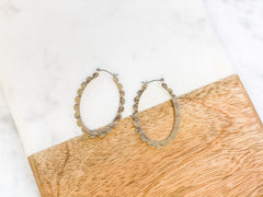 Lynora Scallop Hoop Earrings - Silver