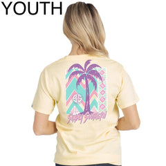 Youth Retro Palm Tree Short Sleeve Tee by Simply Southern