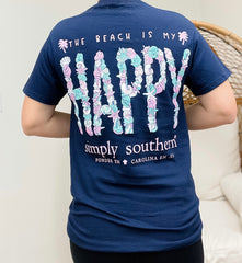 'The Beach Is My Happy' Short Sleeve by Simply Southern