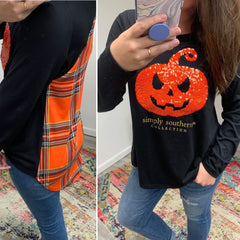 Sequin Pumpkin Top by Simply Southern