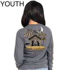 Youth 'True Love Was Born In a Barn' Long Sleeve Tee by Simply Southern
