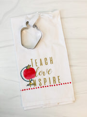 'Teach Love Inspire' Kitchen Towel and Cookie Cutter Set