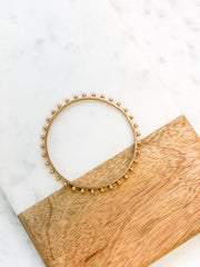 Emerson Studded Bangle Bracelet - Gold