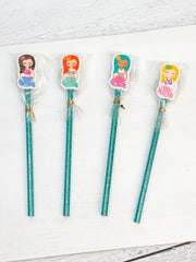Mermaid Eraser & Pencil Set - 4 Options Available