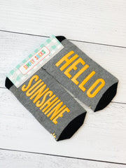'Hello Sunshine' Non-Slip Socks by Simply Southern