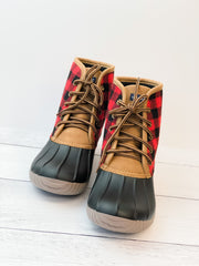 Lace Up Boots by Simply Southern - Plaid