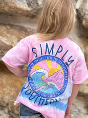 Youth 'Save The Turtles' Tie Dye Short Sleeve Tee by Simply Southern