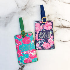 Tropical Floral Luggage Tag Set by Simply Southern