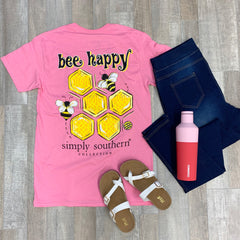 Youth 'Bee Happy' Short Sleeve Tee by Simply Southern