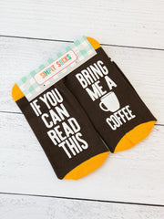 'Bring Me A Coffee' Non-Slip Socks by Simply Southern