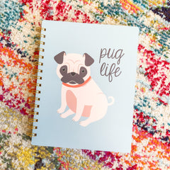 'Pug Life' Spiral Notebook by PBK