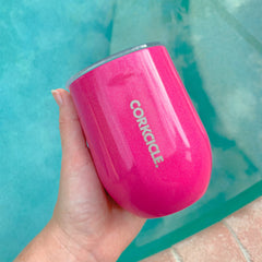 12 oz Stemless Cocktail by Corkcicle - Sparkle Pink Dazzle