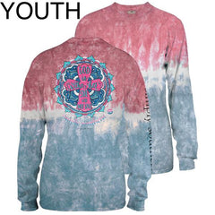 Youth 'She Will Not Fail' Tie Dye Long Sleeve Tee by Simply Southern