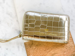 Solid Zip Wallet by Simply Southern - Gold