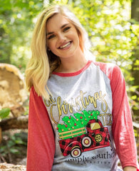 'Oh Christmas Tree' Raglan Tee by Simply Southern