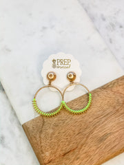 Mally Neon Dangle Earrings - Green