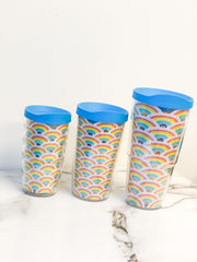 Rainbow Pattern Double Wall Tumbler with Lid by Tervis