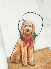 'Christmas Doodle' Dog Ornament by PBK
