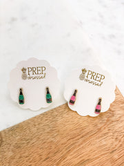 Glitter Bubbly Bottle Signature Enamel Studs